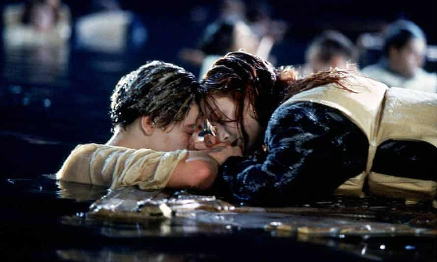 That sinking feeling ... Jack and Rose get heavy in Titanic.