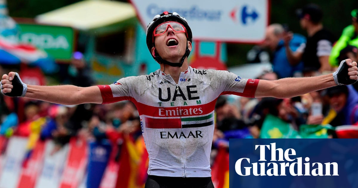 Vuelta a España: Quintana takes lead as Pogacar wins storm-affected stage nine
