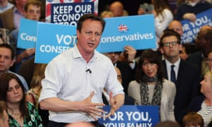 David Cameron conservatives tories campaign support signs