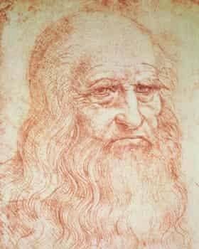 A self-portrait of da Vinci.