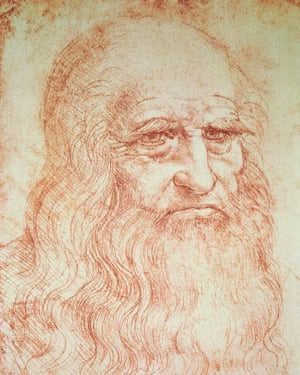 A self-portrait of da Vinci.