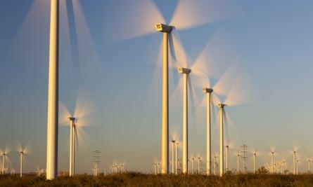 A large-scale wind farm in California