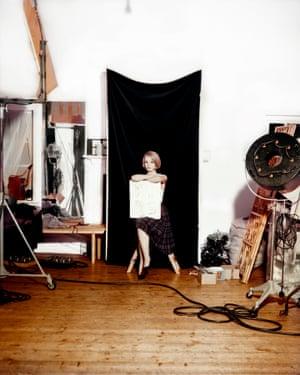 A model in Terence Donovan's studio, c 1960