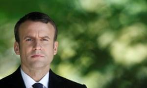 The French president-elect, Emmanuel Macron