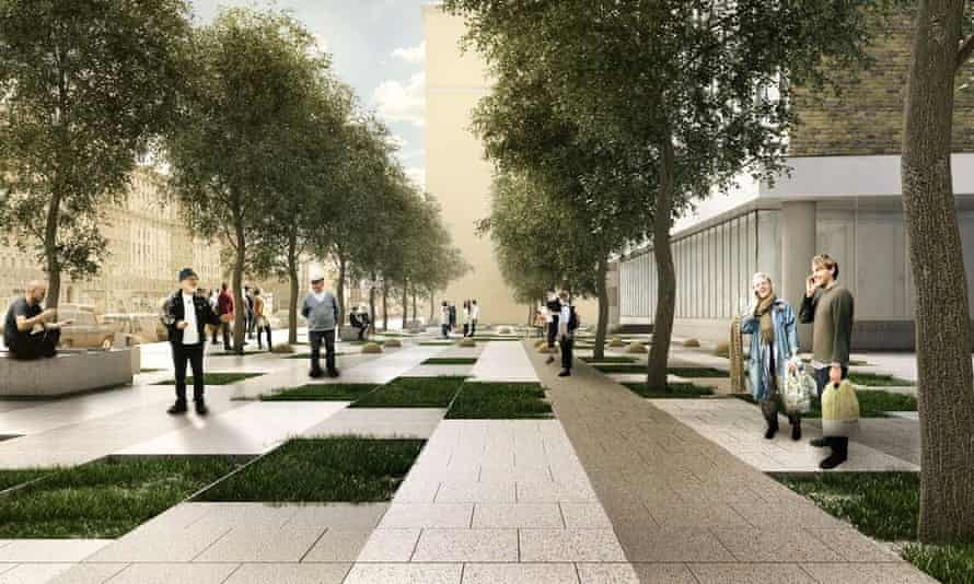 Concept for the Novinsky Boulevard section.