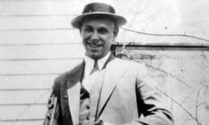 John Dillinger near Moore, Indiana, in 1934.