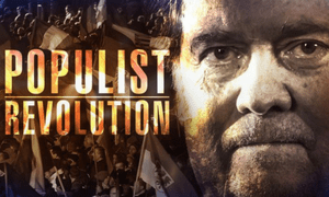 A shot from the ABC's Four Corners program Populist Revolution, which featured an interview with Steve Bannon