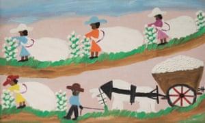 Clementine Hunter - Picking Cotton, 1968
