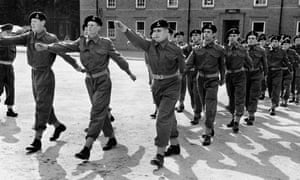 national service  in Maidstone, Kent,  1954.