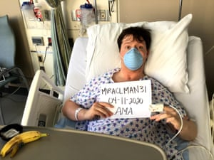 Jake Haendel in hospital earlier this year.