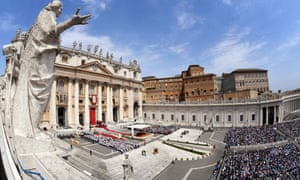 Saint Peter's square at the Vatican