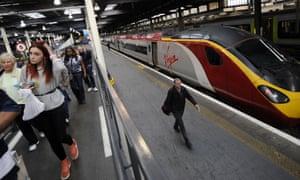 Virgin train at Euston