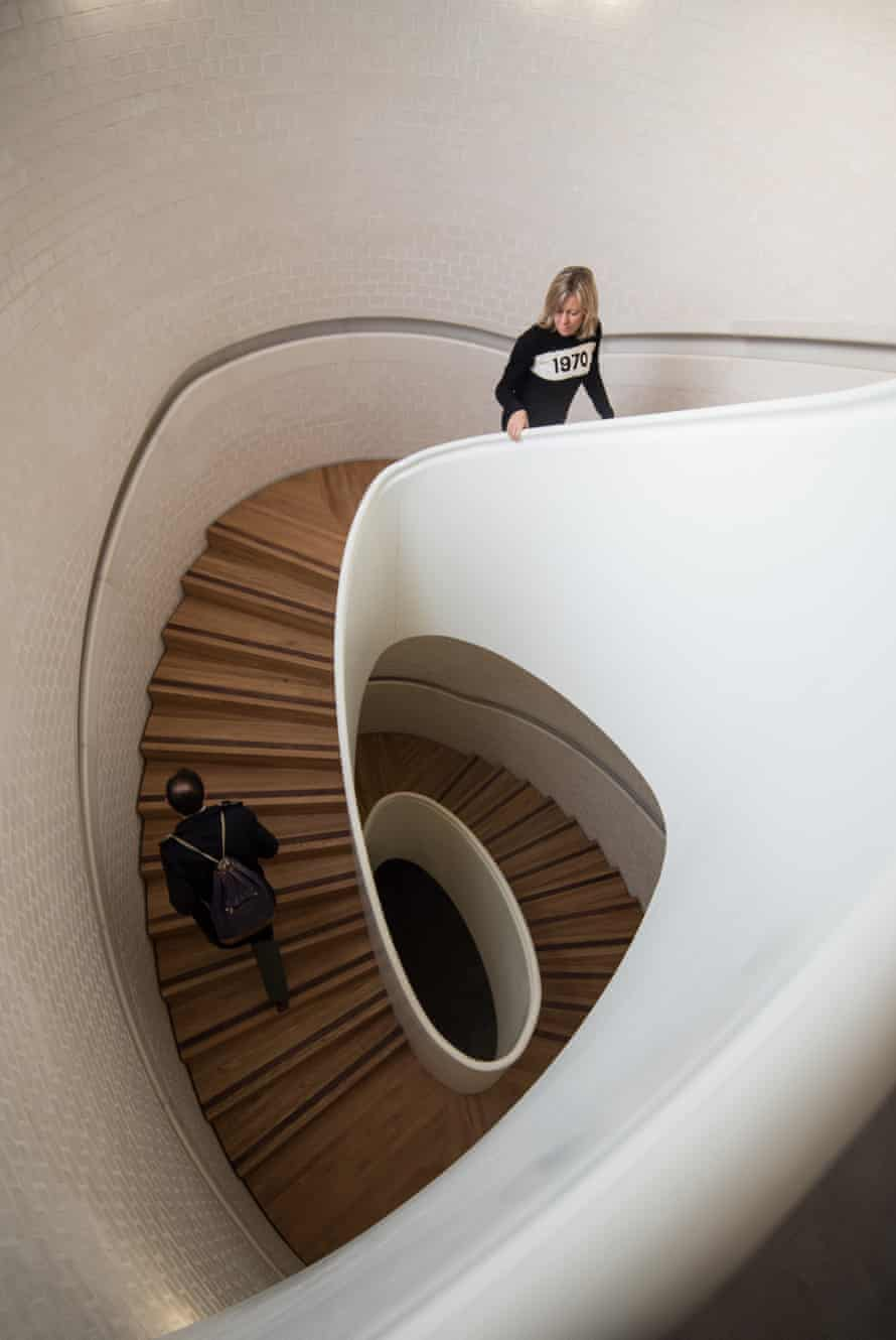 'Fabulous': the staircase of Caruso St John's Newport Street Gallery in London.