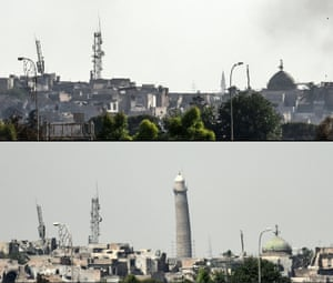 The leaning Al-Hadba minaret has vanished from Mosul's skyline
