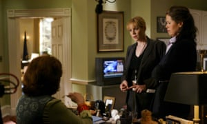 Smith, right, in The West Wing. She is making her first stage appearance in London for more than 25 years.