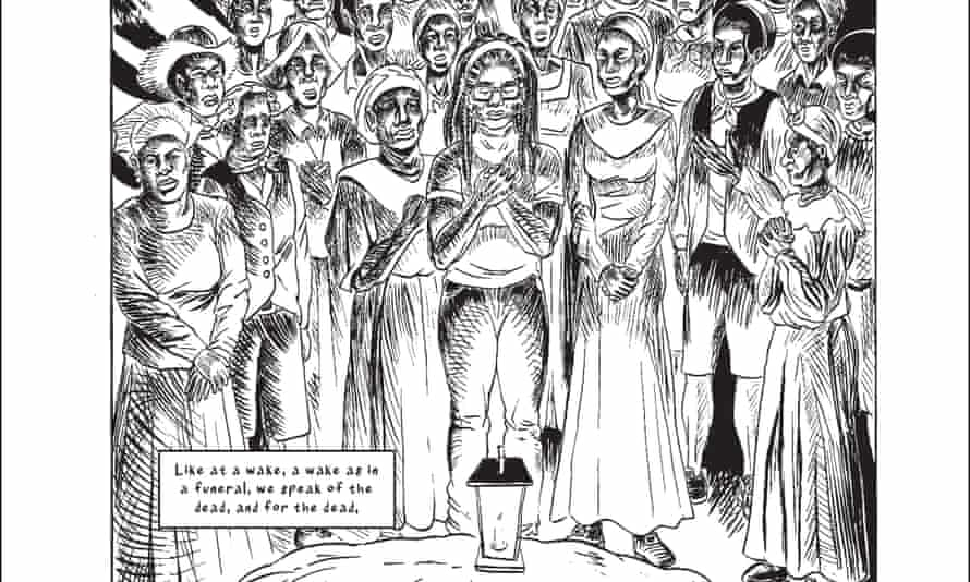 A detail from a page of Wake: The Hidden History of Women-Led Slave Revolts by Rebecca Hall and Hugo Martínez.