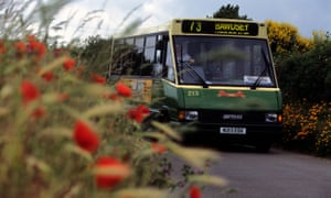 Bus service number 73 between Ipswich and Bawdsey operating in rural Suffolk, UK.