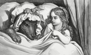 'A polarizing topic': The Disguised Wolf and Little Red Riding Hood, an 1862 engraving by Gustave Dore.