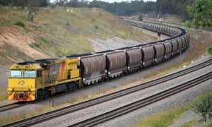 A loaded coal train in the NSW Hunter Valley. AECOM was designing a 310km rail line worth $2bn to connect the proposed Adani Carmichael mine to the port