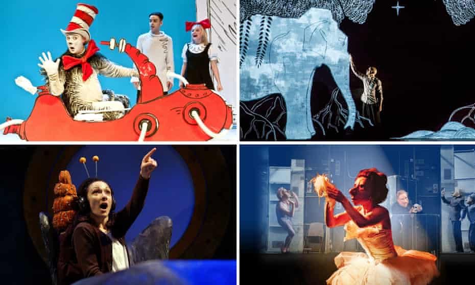 Treats for families at Edinburgh 2016 … clockwise from top left: Cat in the Hat, Chotto Desh, Familie Flöz and The Snail and The Whale