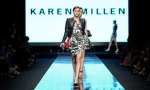a model at a Karen Millen show