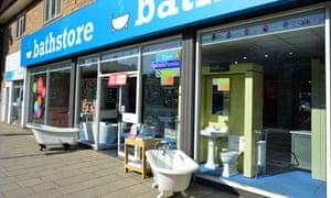 Bathstore in Ruislip, London.
