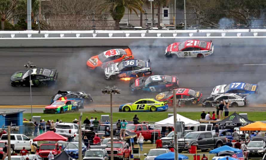 A host of top drivers were caught in the crash