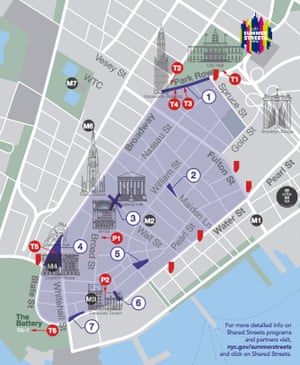 Shared Streets New York map