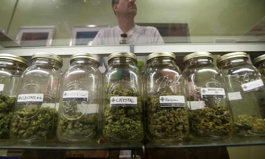 A medical marijuana dispensary in Los Angeles. California will vote to legalize recreational marijuana use in November.