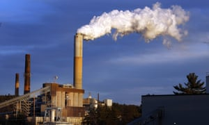 A plume of steam billows from the coal-fired Merrimack Station in Bow, New Hampshire. A number of coal-fired power plants were closed down in 2015 and are unlikely to reopen.