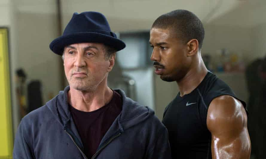 Sylvester Stallone and Michael B Jordan