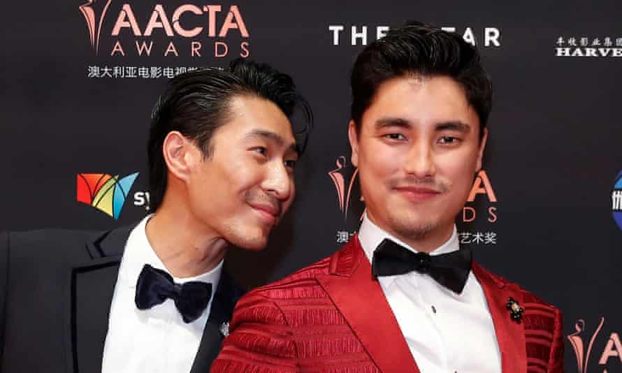 Remy Hii, right, and Chris Pang at the 2019 AACTA Awards in Sydney