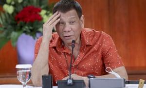 Philippine President Rodrigo Duterte in October 2020.