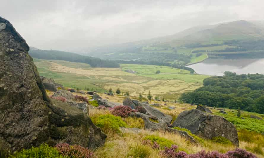 The view from the top of Alphin pike