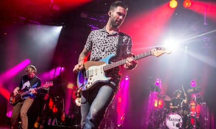 Adam Levine of Maroon 5 performs as part of the iTunes Festival at The Roundhouse in London. The band have apparently been barred from China after a Happy Birthday tweet to the Dalai Lama.