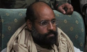 Saif al-Islam after his capture in 2011