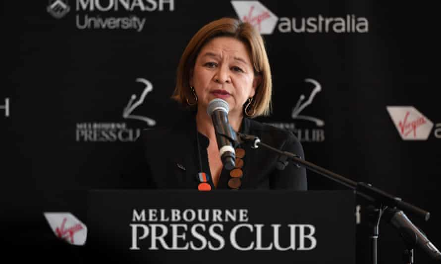 ABC managing director Michelle Guthrie speaks to the Melbourne Press Club, Tuesday, 19 June, 2018.