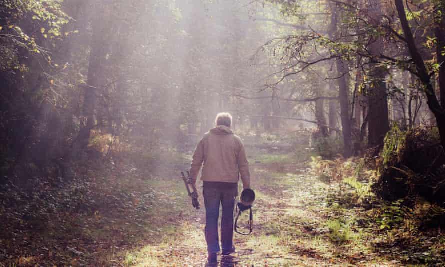 Woodlander David Tipling in woods
