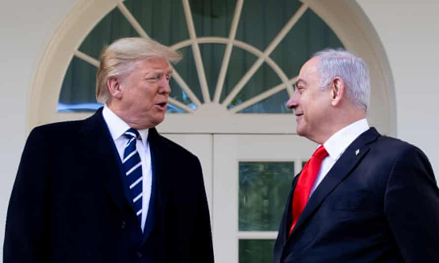 Donald Trump and Benjamin Netanyahu at the White House in January