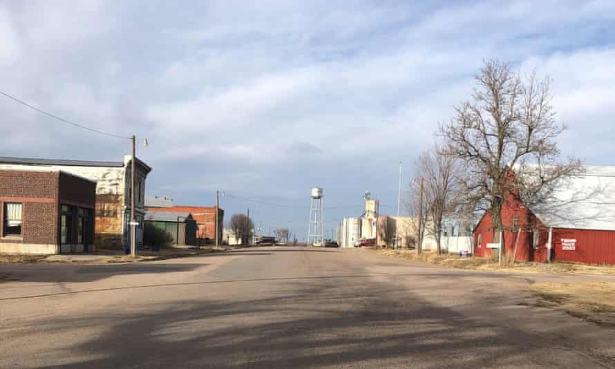 Norcatur in north-west Kansas. The surrounding county of 3,000 people has recorded 194 coronavirus cases and one death, although local medical providers say four more deaths have yet to be added to the total.