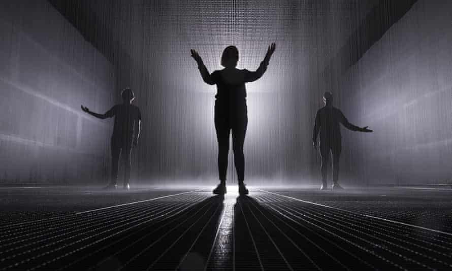 The Rain Room at the Jackalope Pavilion in Melbourne