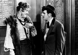 With Alastair Sim in 1957 film Blue Murder at St Trinian's.