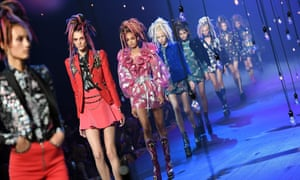 Models during the Marc Jacobs show at New York fashion week.