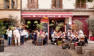 A typical Lyonnais bouchon restaurant in old Lyon.