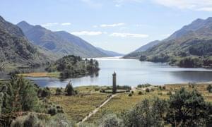 Loch Sheil and the Glenfinnan monument.