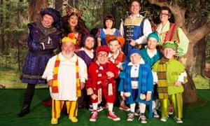 The Snow White & the Seven Dwarfs company at the New Victoria Theatre, Woking