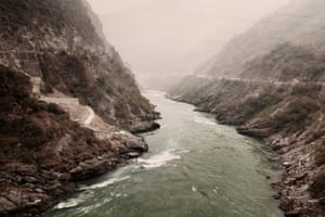 The river Ganges before it reaches the Theri Dam, between the Himalaya mountains