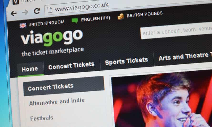 Viagogo webpage