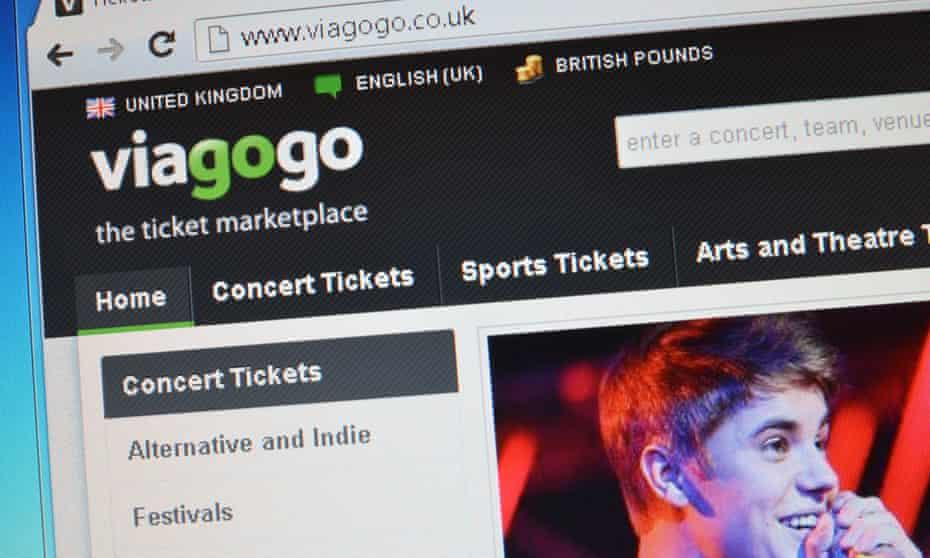 Viagogo.co.uk website screenshot