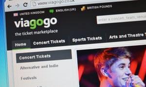 The Viagogo website